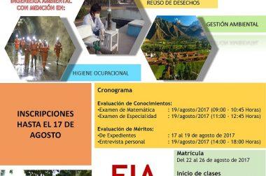 ADMISIÓN DE MAESTRÍA 2017-II