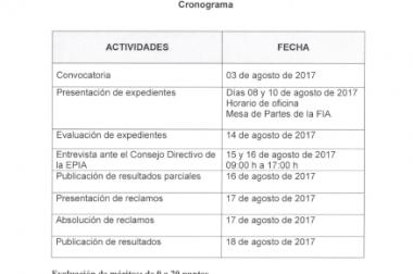 CONVOCATORIA-CONCURSO PÚBLICO DOCENTE EPIA 2017