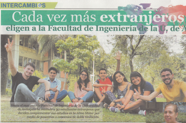 ESTUDIANTES DE INGENIERÍA SANITARIA HACEN PASANTÍA ACADÉMICA EN LA UNIVERSIDAD DE ANTIOQUIA-COLOMBIA