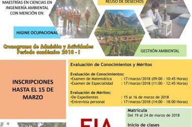 CONVOCATORIA DE ADMISIÓN MAESTRÍA 2018-I