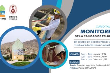 CURSO-TALLER: MONITOREO DE LA CALIDAD DE EFLUENTES DE PLANTAS DE TRATAMIENTO DE AGUAS RESIDUALES DOMESTICAS E INDUSTRIALES