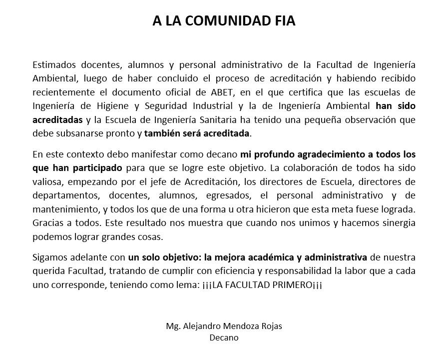 Comunicado FIA